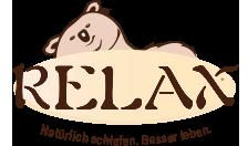 Relax - natürlich schlafen, besser leben Logo